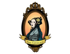 Adafruit Ada Lovelace sticker in color