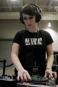 Sarah Stierch DJ'ing
