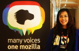 Many Voices One Mozilla postcard featuring Chit Thiri Maung