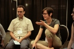 Joseph Reagle and Christine Spang in discussion at AdaCamp DC