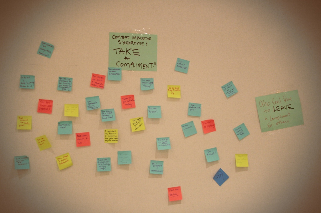 Wall of compliments at AdaCamp DC