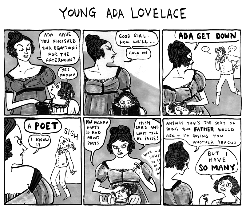 Ada Lovelace comic by Kate Beaton, full size