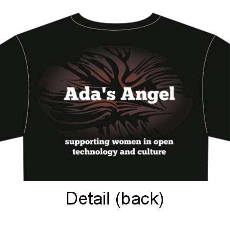 Ada's Angel 2012 t-shirt - detail