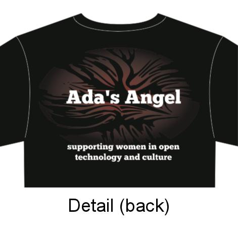 Ada's Angel 2012 t-shirt - detail