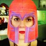 Courtney Stanton wearing a Magneto helmet