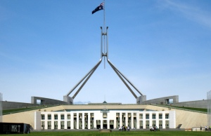 Front of Australian Federal Parliament House, Canberra