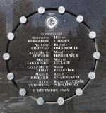 École Polytechnique massacre memorial, by Bobanny [Public domain], via Wikimedia Commons