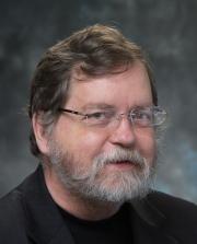 Bearded man wearing glasses